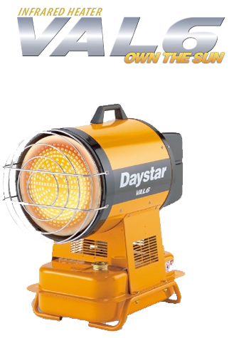 VAL6 Infrared Heaters - Daystar Model